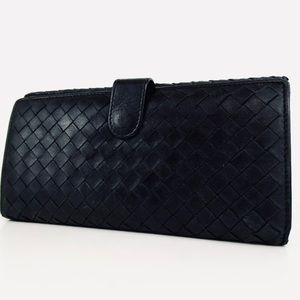 BOTTEGA VENETA Intrecciato Long Leather Wallet